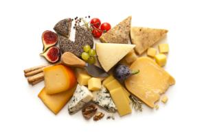 Tagliere di formaggi e frutta